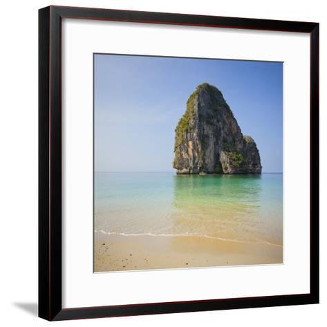 Rock at the Phra Nang Beach, Ao Nang, Krabi, Thailand-Rainer Mirau-Framed Art Print