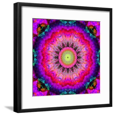 Mandala Ornament of Flowers, Composing-Alaya Gadeh-Framed Art Print