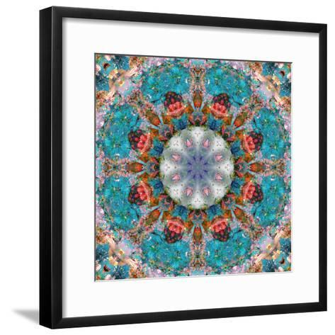 Mandala of Flower Photographies-Alaya Gadeh-Framed Art Print