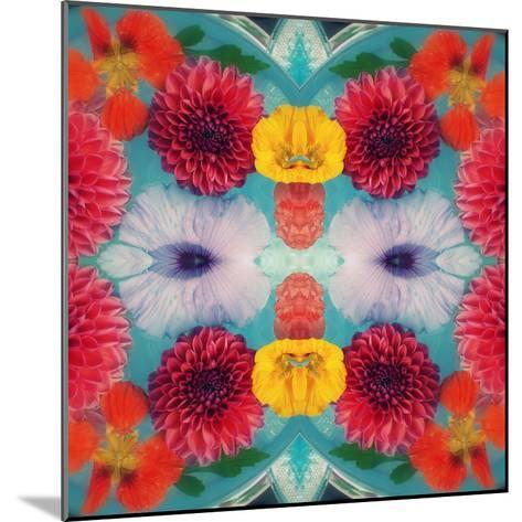 Blossoms in Blue Water Symmetric Layer Work-Alaya Gadeh-Mounted Photographic Print