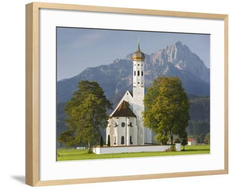 Church St Coloman, FŸssen, AllgŠu, Upper Bavaria, Bavaria, Germany-Rainer Mirau-Framed Art Print