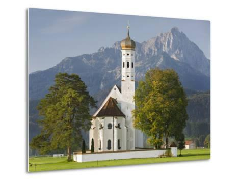 Church St Coloman, FŸssen, AllgŠu, Upper Bavaria, Bavaria, Germany-Rainer Mirau-Metal Print