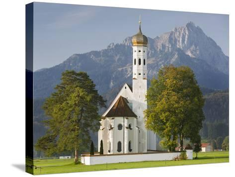 Church St Coloman, FŸssen, AllgŠu, Upper Bavaria, Bavaria, Germany-Rainer Mirau-Stretched Canvas Print