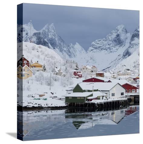Reine' (Village), Moskenesoya (Island), Lofoten, 'Nordland' (County), Norway-Rainer Mirau-Stretched Canvas Print