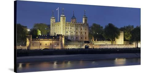 Tower of London, at Night, England, Great Britain-Rainer Mirau-Stretched Canvas Print