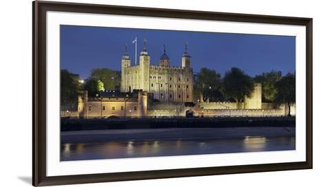 Tower of London, at Night, England, Great Britain-Rainer Mirau-Framed Art Print