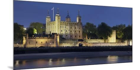 Tower of London, at Night, England, Great Britain-Rainer Mirau-Mounted Photographic Print