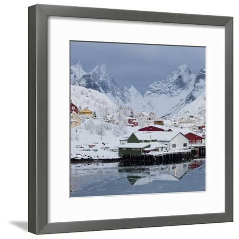 Reine' (Village), Moskenesoya (Island), Lofoten, 'Nordland' (County), Norway-Rainer Mirau-Framed Art Print