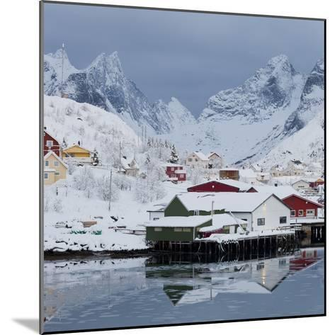 Reine' (Village), Moskenesoya (Island), Lofoten, 'Nordland' (County), Norway-Rainer Mirau-Mounted Photographic Print
