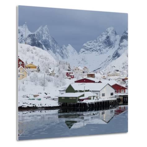 Reine' (Village), Moskenesoya (Island), Lofoten, 'Nordland' (County), Norway-Rainer Mirau-Metal Print