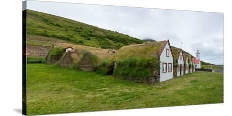 Panorama, Turf House Laufas-Catharina Lux-Stretched Canvas Print