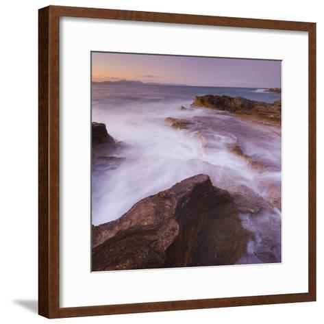 Sandstone Coast at Betlem, Del Llevant Peninsula, Majorca, Spain-Rainer Mirau-Framed Art Print