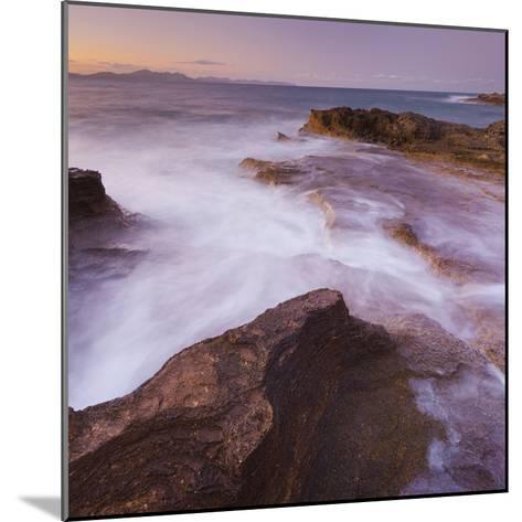 Sandstone Coast at Betlem, Del Llevant Peninsula, Majorca, Spain-Rainer Mirau-Mounted Photographic Print