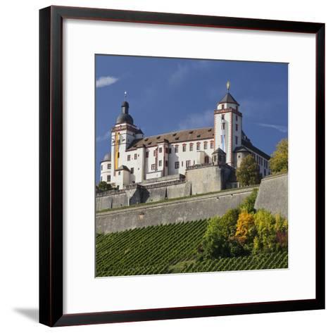 Fortress Marienberg, WŸrzburg (City), Bavaria, Germany-Rainer Mirau-Framed Art Print