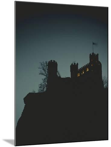Germany, Rhineland-Palatinate, Trechtingshausen, Castle 'Rheinstein', Night-Thonig-Mounted Photographic Print
