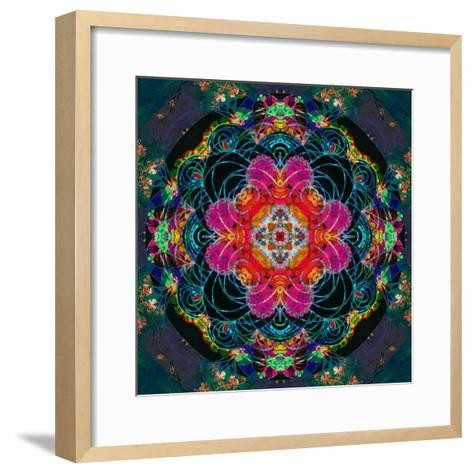 Photomontage of Flowers, Conceptual Composing Work-Alaya Gadeh-Framed Art Print