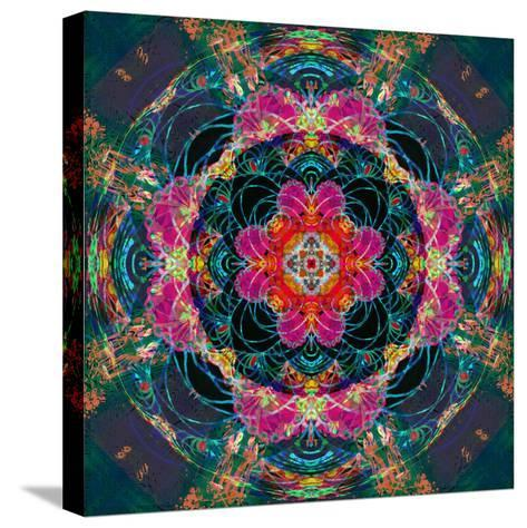 Photomontage of Flowers Photographs and Flower Paintings, Conceptual Layer Work-Alaya Gadeh-Stretched Canvas Print