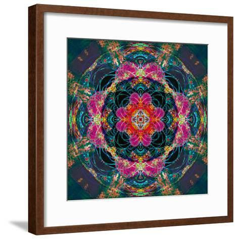Photomontage of Flowers Photographs and Flower Paintings, Conceptual Layer Work-Alaya Gadeh-Framed Art Print