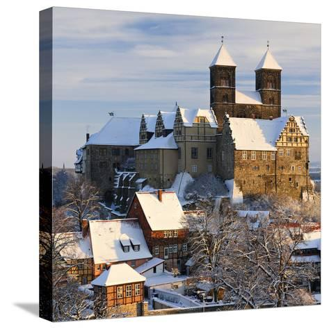 Germany, Saxony-Anhalt, Quedlinburg, Winter-Andreas Vitting-Stretched Canvas Print