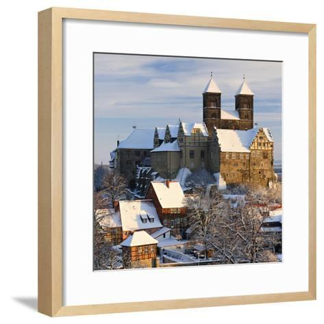 Germany, Saxony-Anhalt, Quedlinburg, Winter-Andreas Vitting-Framed Art Print