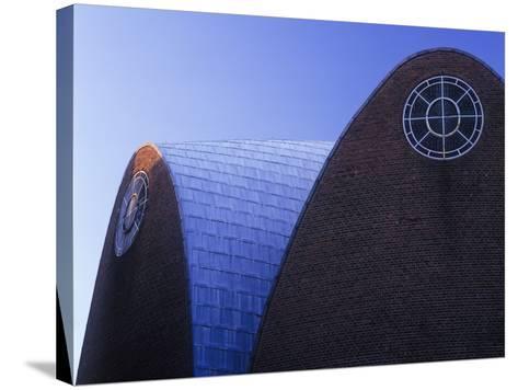 Germany, North Rhine-Westphalia, Cologne, Church St Engelbert, Built in 1930-32 by Dominikus Bšhm-Andreas Keil-Stretched Canvas Print