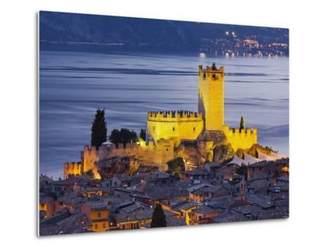 Castle of Malcesine at the Gardasee, Veneto, Italy-Rainer Mirau-Metal Print