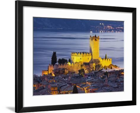 Castle of Malcesine at the Gardasee, Veneto, Italy-Rainer Mirau-Framed Art Print