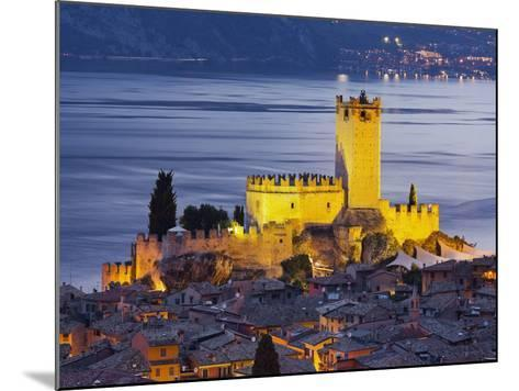 Castle of Malcesine at the Gardasee, Veneto, Italy-Rainer Mirau-Mounted Photographic Print