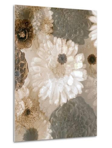 Photographic Layer Work from White and Brown Blossoms-Alaya Gadeh-Metal Print
