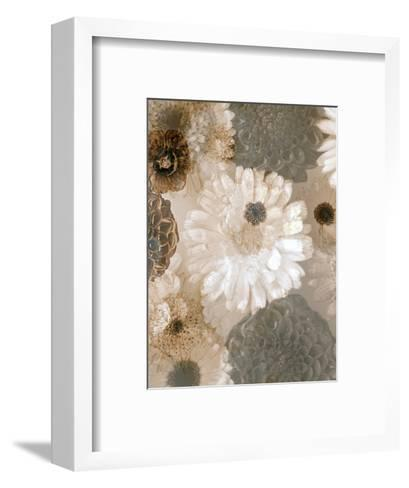 Photographic Layer Work from White and Brown Blossoms-Alaya Gadeh-Framed Art Print