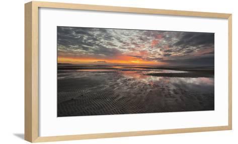Sunrise in the Mudflat, Close to List (Municipality), Sylt (Island), Schleswig-Holstein, Germany-Rainer Mirau-Framed Art Print