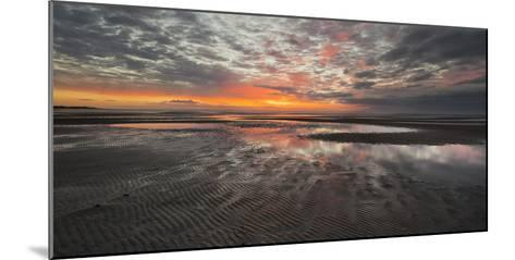 Sunrise in the Mudflat, Close to List (Municipality), Sylt (Island), Schleswig-Holstein, Germany-Rainer Mirau-Mounted Photographic Print
