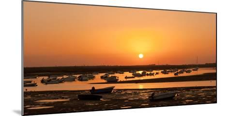 Portugal, Algarve, Ria Formosa Coast, Fishing Boats, Sunset-Chris Seba-Mounted Photographic Print