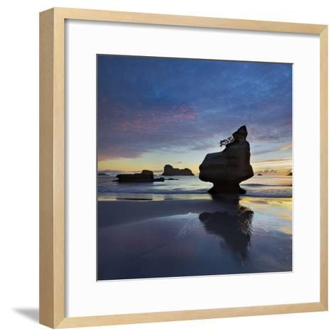 Mares Leg Cove, Coromadel Peninsula, Waikato, North Island, New Zealand-Rainer Mirau-Framed Art Print