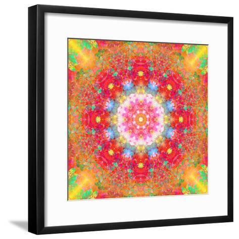 Symmetrical Ornament of Flower Photos-Alaya Gadeh-Framed Art Print