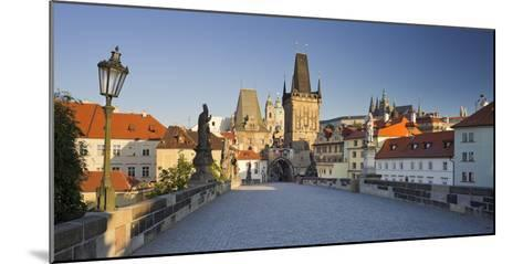 Czechia, Prague, Charles Bridge, Town Gate-Rainer Mirau-Mounted Photographic Print