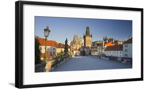 Czechia, Prague, Charles Bridge, Town Gate-Rainer Mirau-Framed Art Print
