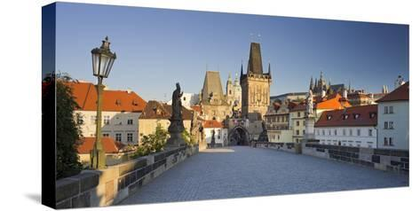 Czechia, Prague, Charles Bridge, Town Gate-Rainer Mirau-Stretched Canvas Print