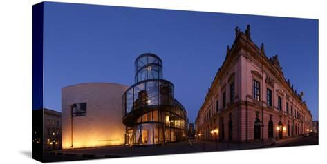 Berlin, Unter Den Linden, Zeughaus (Arsenal), German Historical Museum, Pei-Bau, Panorama, Evening-Catharina Lux-Stretched Canvas Print