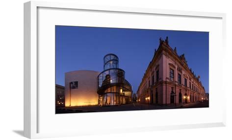 Berlin, Unter Den Linden, Zeughaus (Arsenal), German Historical Museum, Pei-Bau, Panorama, Evening-Catharina Lux-Framed Art Print