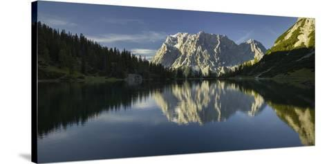 Zugspitze, Seebensee, Miemingen Mountains, Tyrol, Austria-Rainer Mirau-Stretched Canvas Print