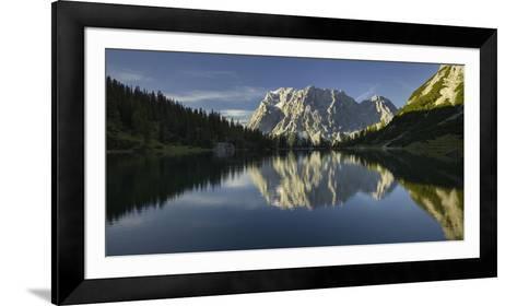 Zugspitze, Seebensee, Miemingen Mountains, Tyrol, Austria-Rainer Mirau-Framed Art Print