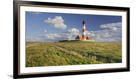 Lighthouse of Westerhever (Municipality), Schleswig-Holstein, Germany-Rainer Mirau-Framed Art Print
