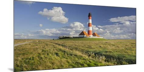 Lighthouse of Westerhever (Municipality), Schleswig-Holstein, Germany-Rainer Mirau-Mounted Photographic Print