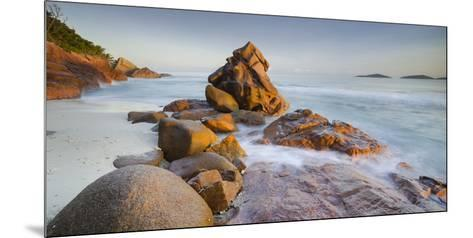 Red Granite at Anse Gaulettes, La Digue Island, the Seychelles-Rainer Mirau-Mounted Photographic Print
