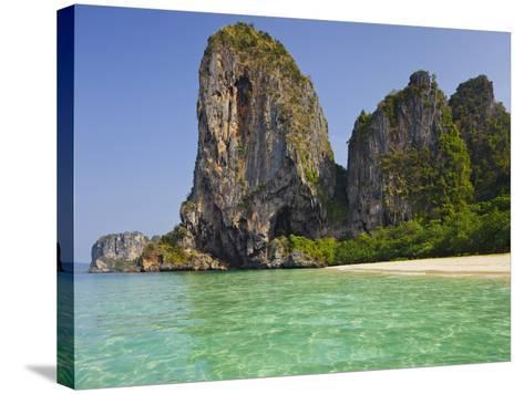 Rocks in the Phra Nang Beach, Ao Nang, Krabi, Thailand-Rainer Mirau-Stretched Canvas Print