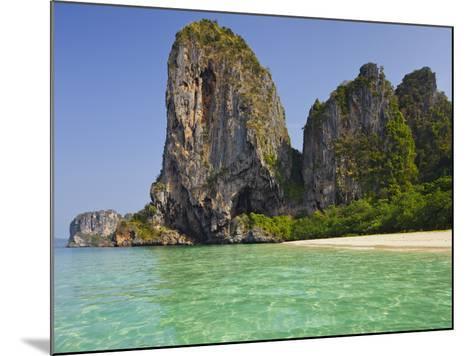 Rocks in the Phra Nang Beach, Ao Nang, Krabi, Thailand-Rainer Mirau-Mounted Photographic Print