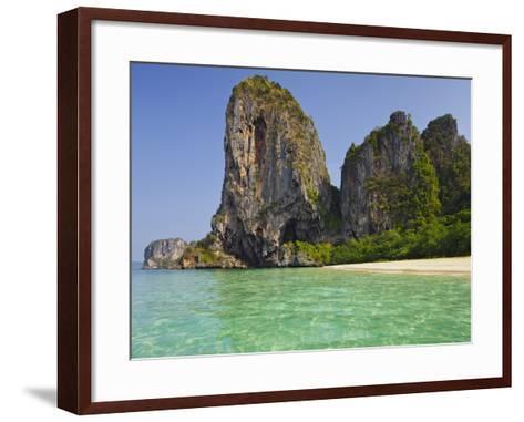 Rocks in the Phra Nang Beach, Ao Nang, Krabi, Thailand-Rainer Mirau-Framed Art Print