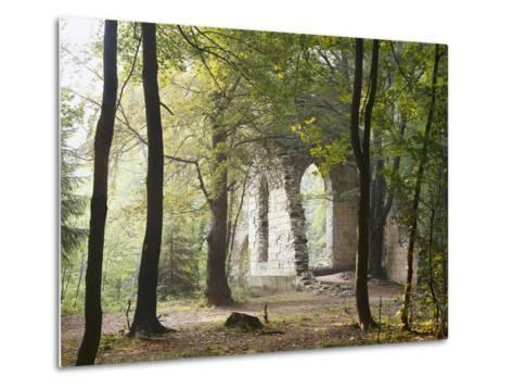 France, Haute-Savoie, Forest, Church Ruin, Near Chamonix-Thonig-Metal Print