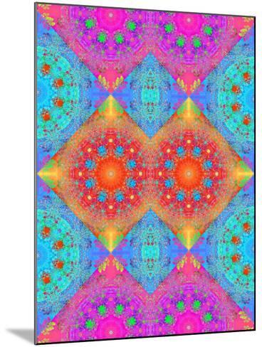 Symmetrical Ornament of Flower Photos-Alaya Gadeh-Mounted Photographic Print